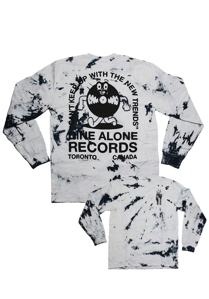 Can't Keep Up Tie-Dye Longsleeve Shirt (V2)-Dine Alone Records-Dine Alone Records