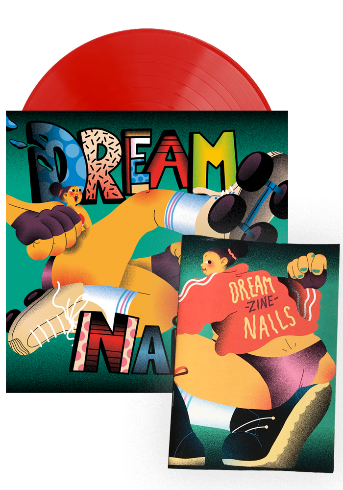 Dream Nails - Dream Nails (Red LP) + Signed Zine