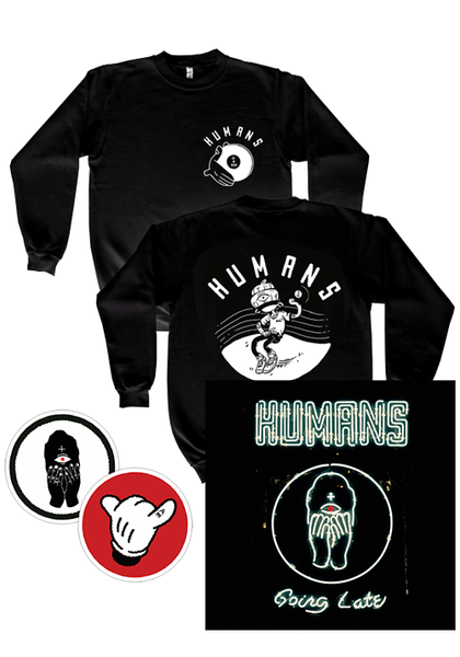 Humans - Going Late (Sweatshirt + Patches + CD Bundle)