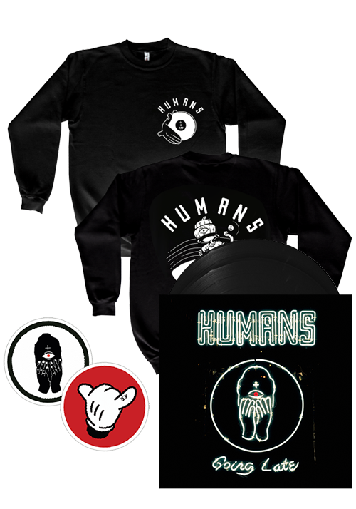 Humans - Going Late (Sweatshirt + Patches + LP Bundle)
