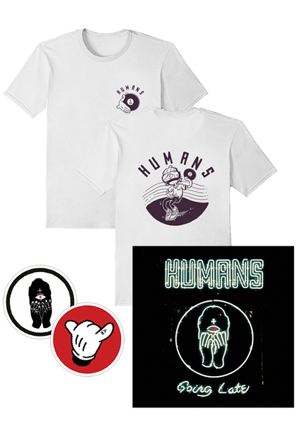 Humans - Going Late (T-Shirt + Patches + CD Bundle)