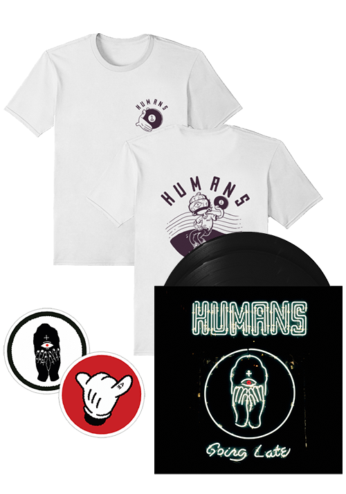 Humans - Going Late (T-Shirt + Patches + LP Bundle)