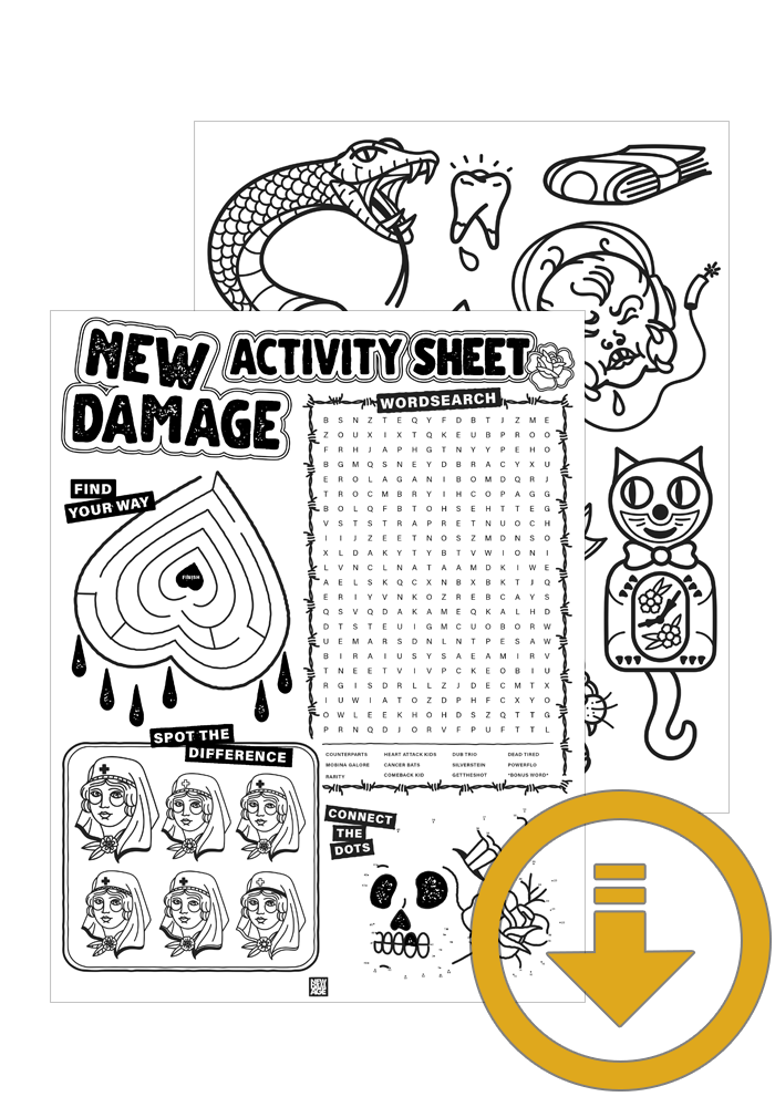New Damage Records Activity Sheet & Colouring Page (Download)