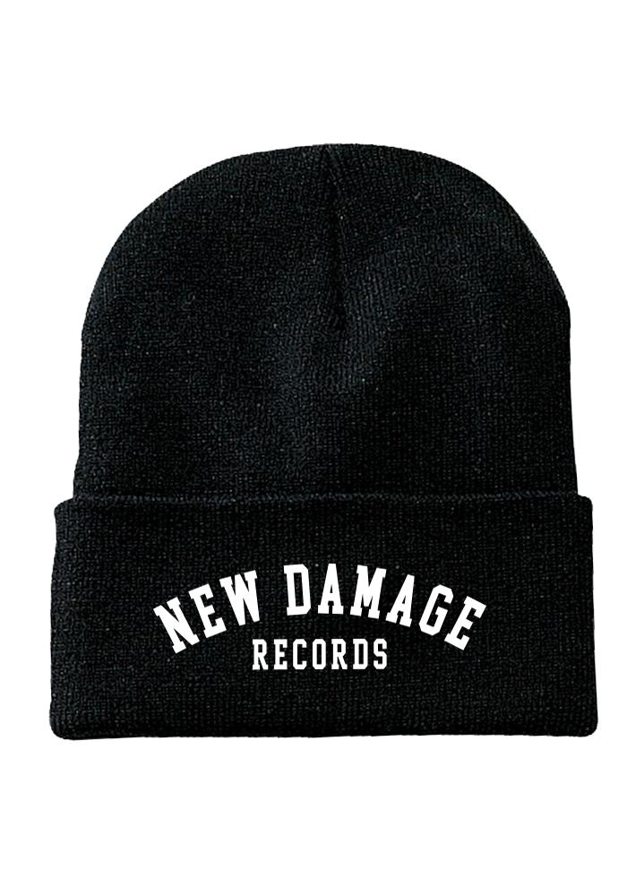 New Damage Records - College Logo Toque (Black)