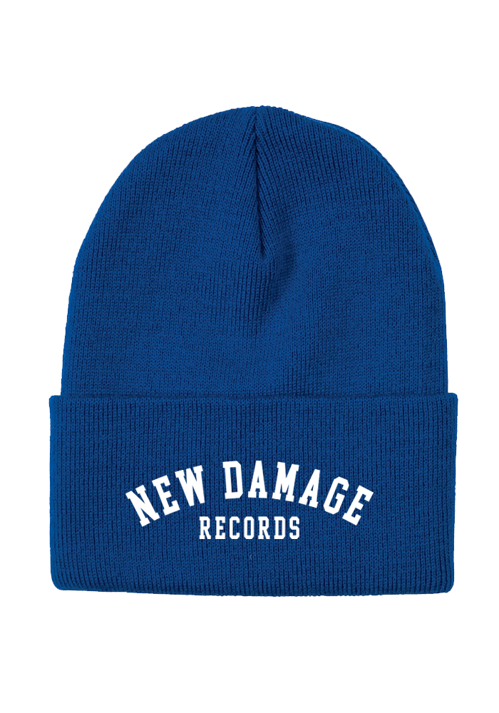New Damage Records - College Logo Toque (Blue)