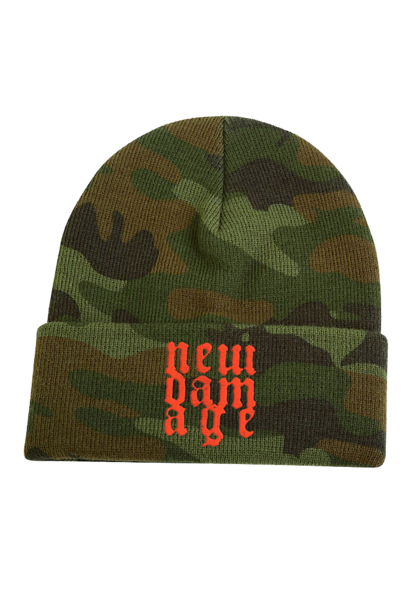 New Damage Records - Logo Toque (Camo)