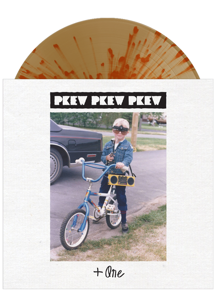 Pkew Pkew Pkew - +One (Translucent Beer w/ Orange Crush Splatter LP)