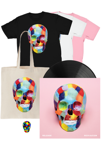 Rich Aucoin - Release (LP) + T-Shirt + Tote + Pin