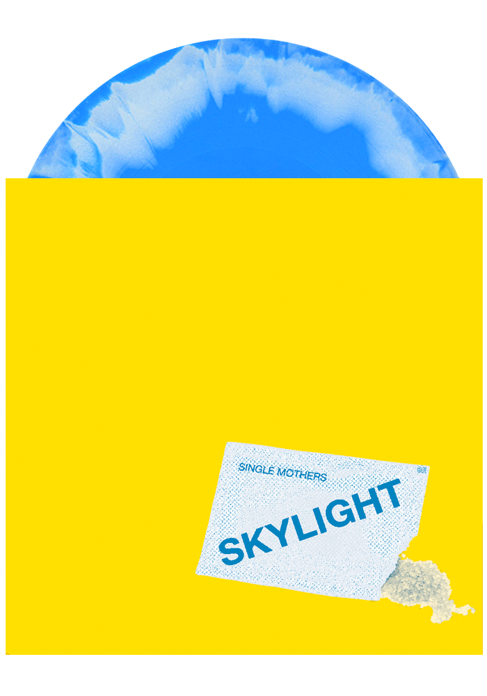 "Single Mothers - Skylight b/w Army Green (Blue / White 7"")"