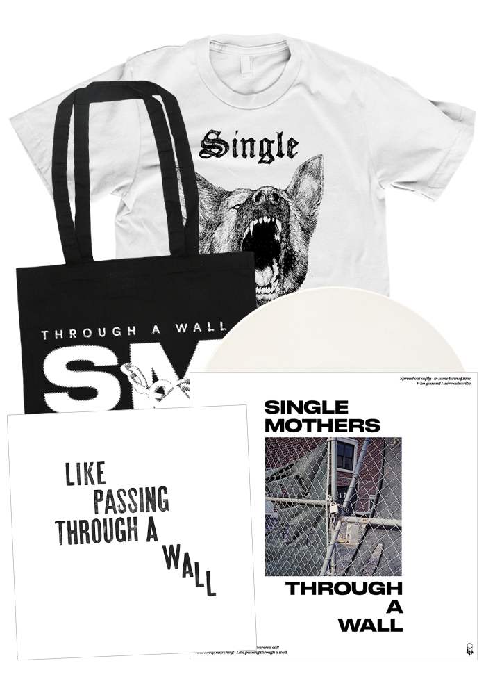 Single Mothers - Through A Wall (LP + White Shirt Bundle)