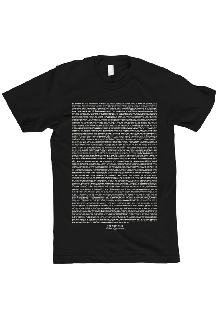 Say Anything - Oliver Appropriate Lyrics T-Shirt