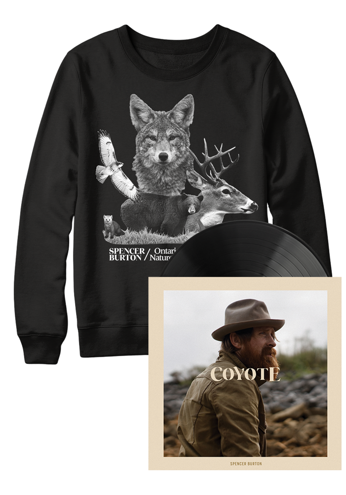 Spencer Burton - Coyote (LP) + Ontario Nature Eco Sweatshirt [PRE-ORDER]