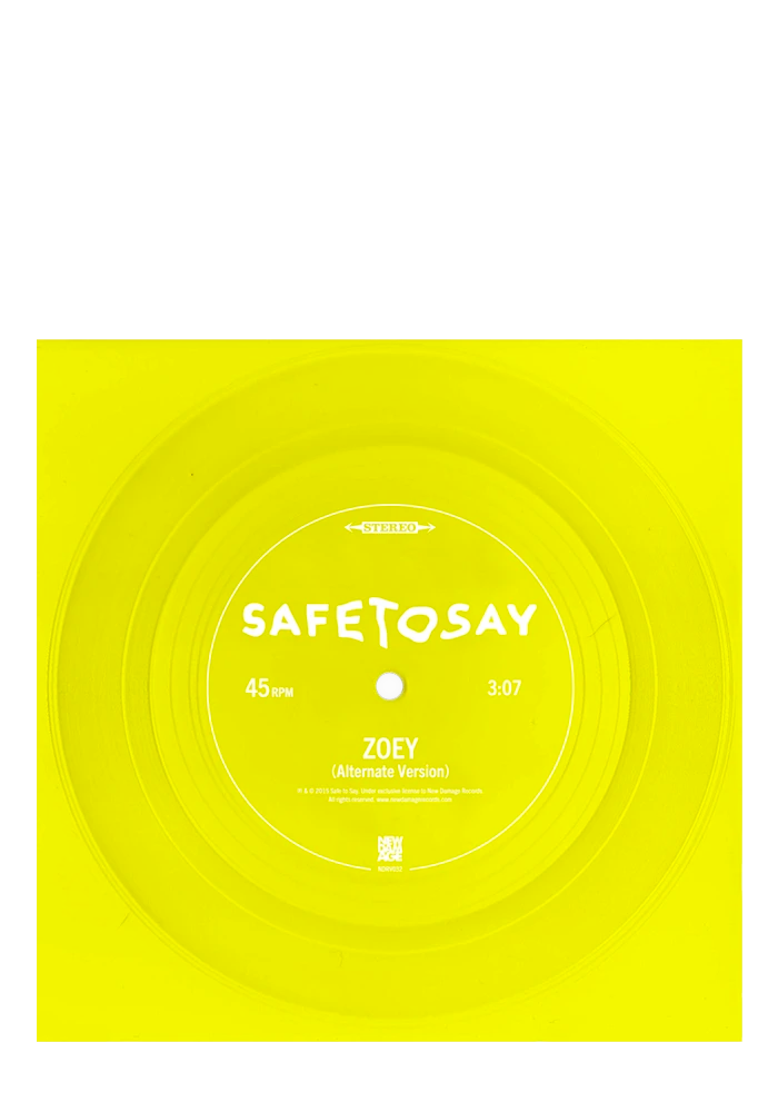 "Safe To Say - Zoey (7"" Flexi)"
