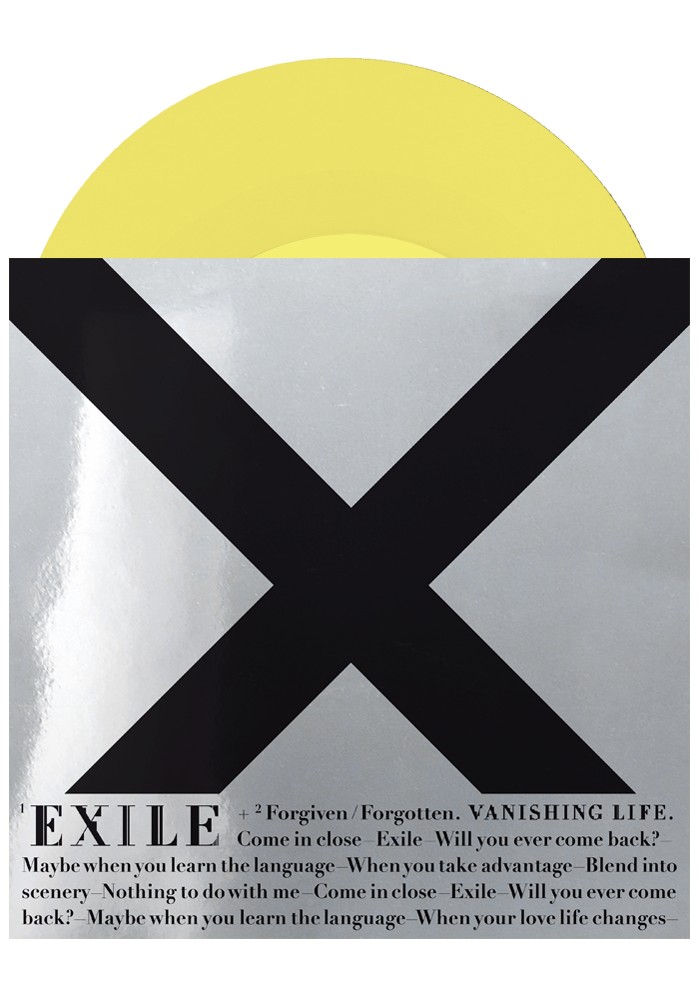 "Exile b/w Forgiven/Forgotten (Yellow 7"")-Vanishing Life-Dine Alone Records"