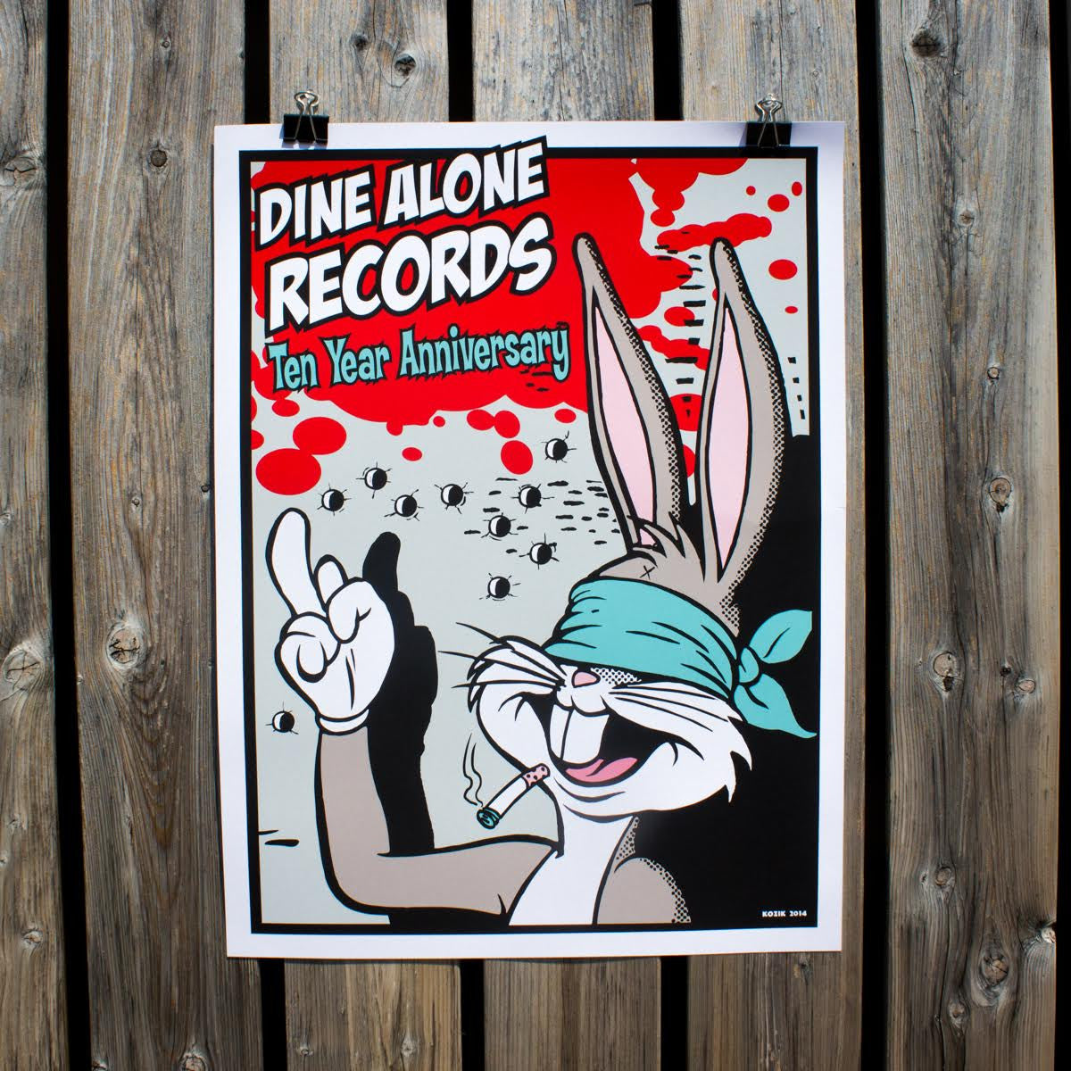 Frank Kozik DA10 Poster-Dine Alone Records-Dine Alone Records
