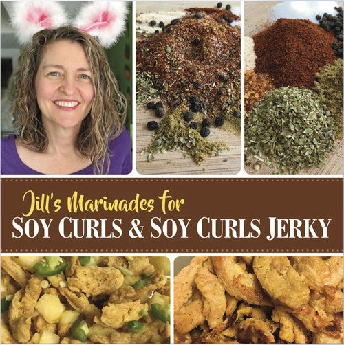 Jill's Marinades for Soy Curls and Soy Curls Jerky
