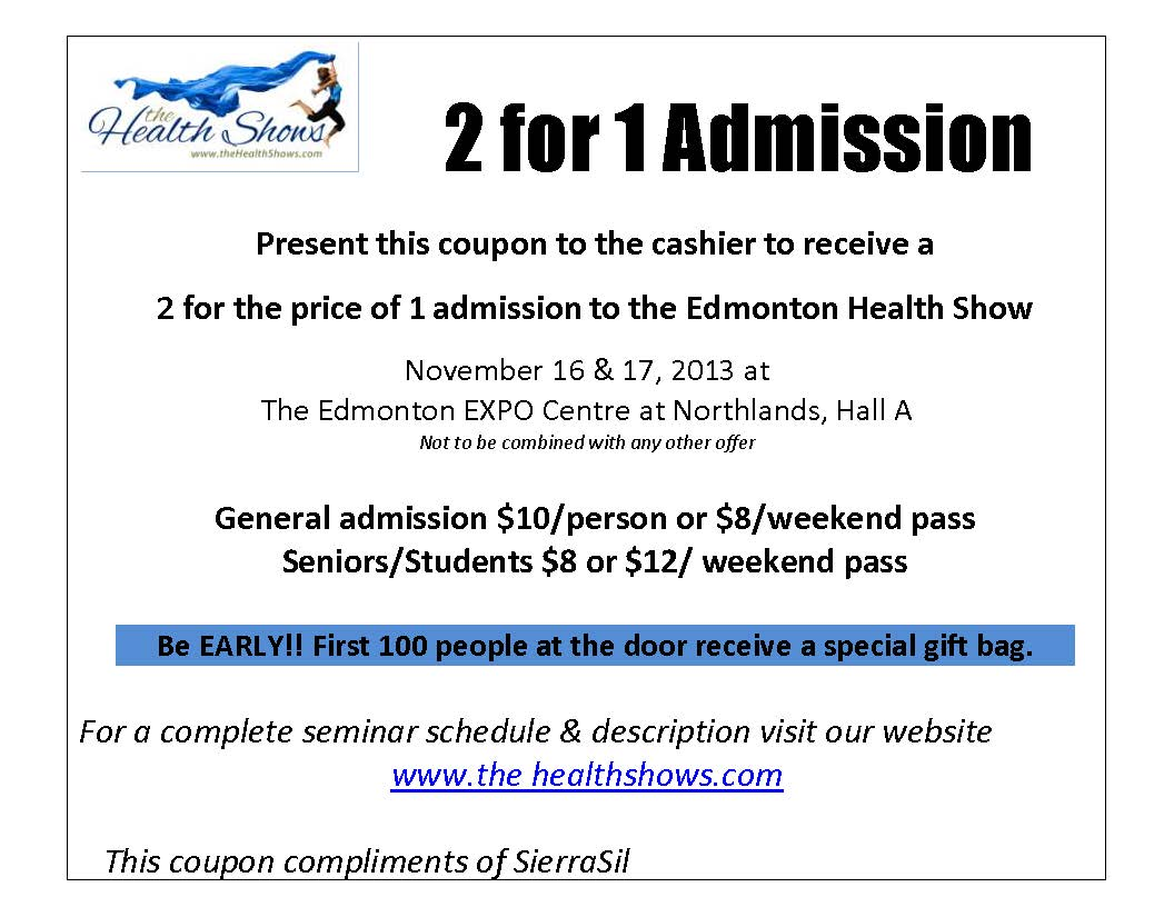 Edmonton Health Show coupon