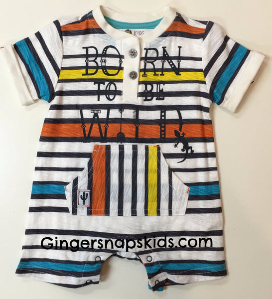 Petit Lem Born to Be Wild Romper (sz. 3m-24m)