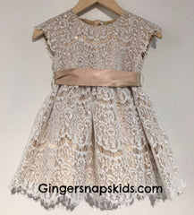 Luna Luna Angel Champagne Lace Dress (sz. 2-6)
