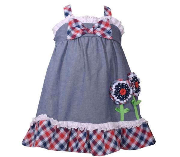Chambray Empire Dress (sz 0/3m-4T)