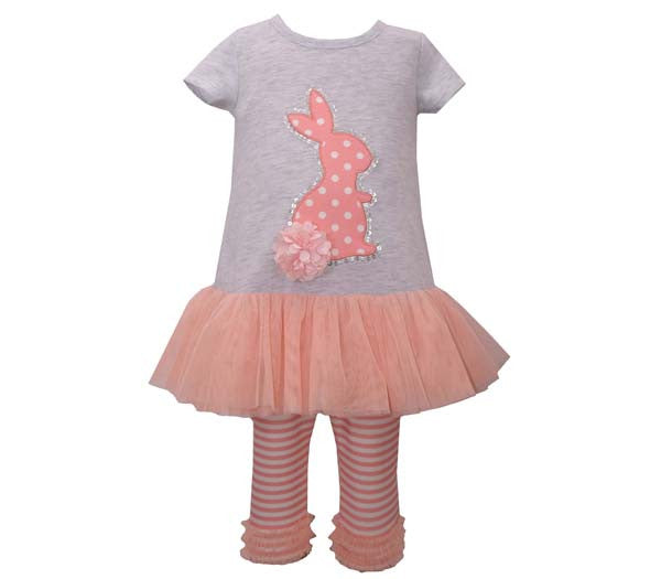 Polka Dot Bunny Tutu 2pc Legging Set (sz 12m-6X)