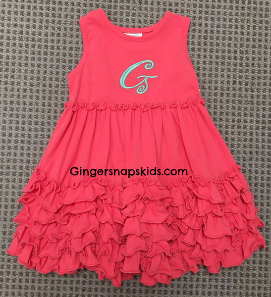 Millie Jay Coral Ruched Knit Sundress (sz 12m-6X)