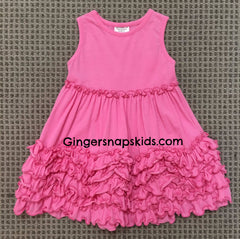 Millie Jay Pink Ruched Knit Sundress (sz 3m-6X)