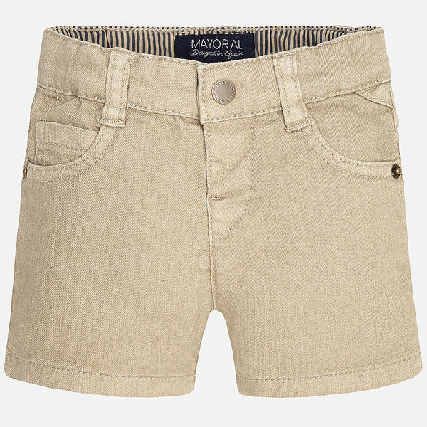 Mayoral Boys Tan Twill Bermuda Shorts (sz 6m-24m)