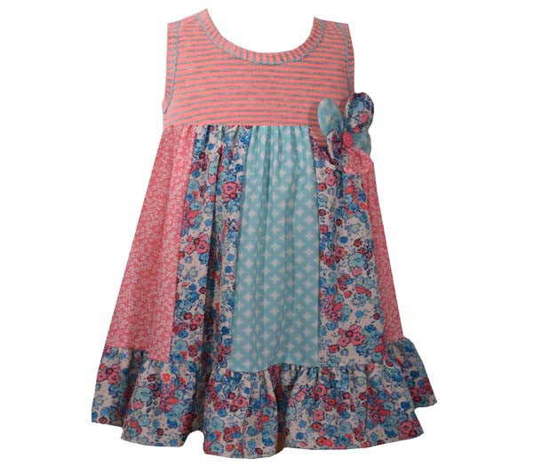 Coral Pieced Skirt Dress (sz 2T-6X)