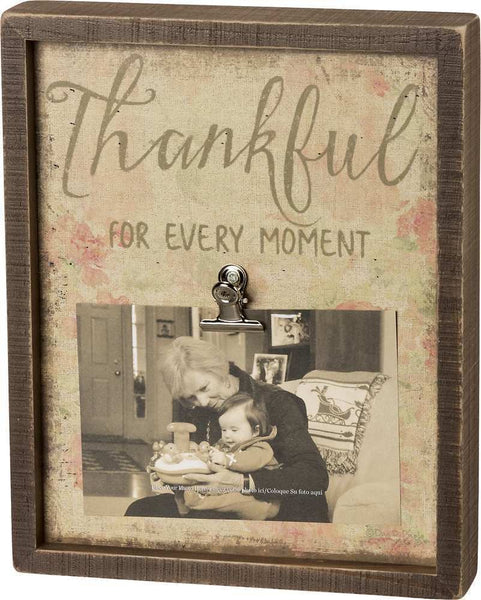 Inset Box Frame - Thankful For Every Moment | PREORDER