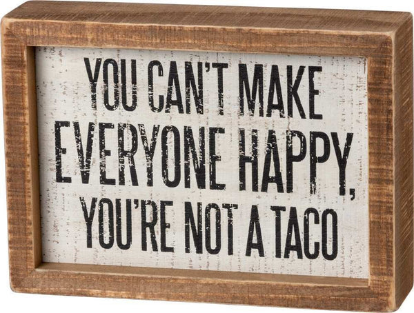 INSET BOX SIGN - NOT A TACO | PREORDER