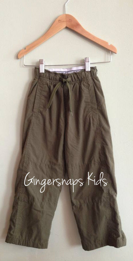 Wes and Willy Olive Nylon Athletic Pants sz. 4t-L (12)
