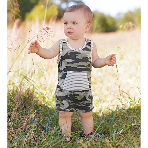 Mud Pie Camo Romper