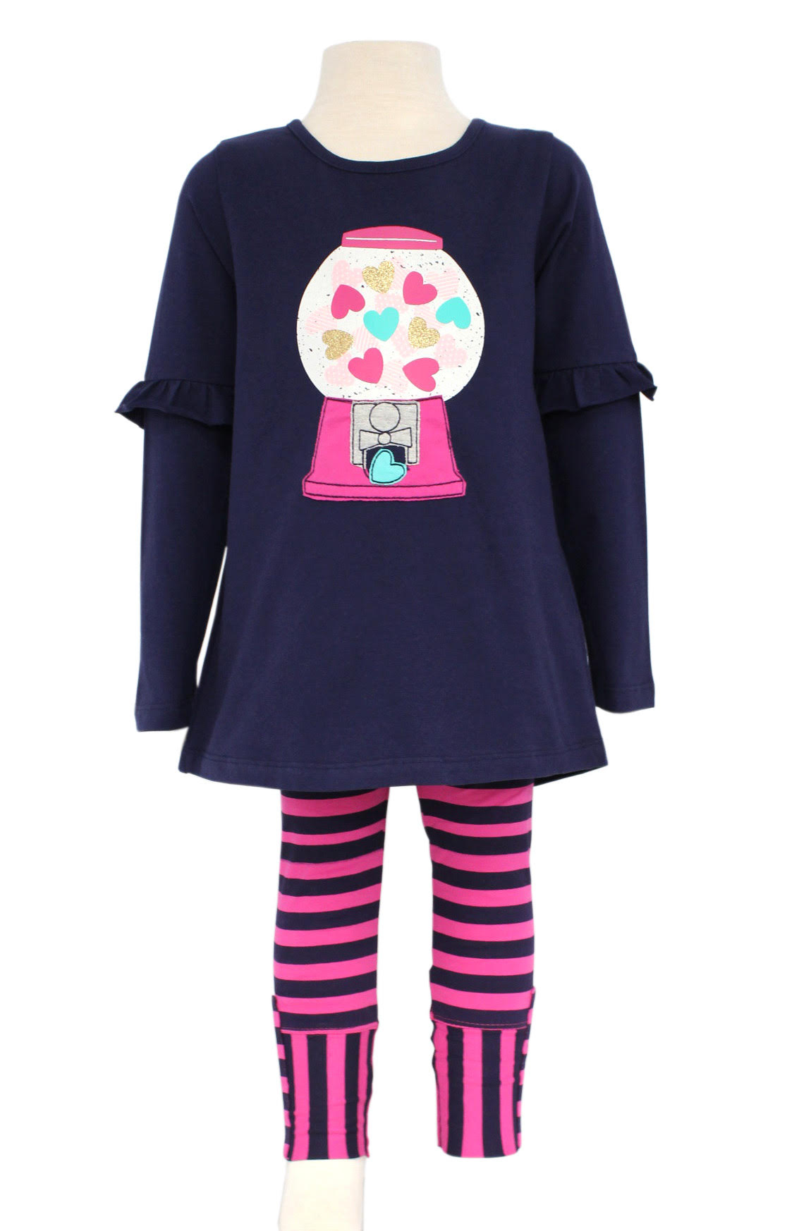 Gum Ball Tunic and Striped Legging |PREORDER|