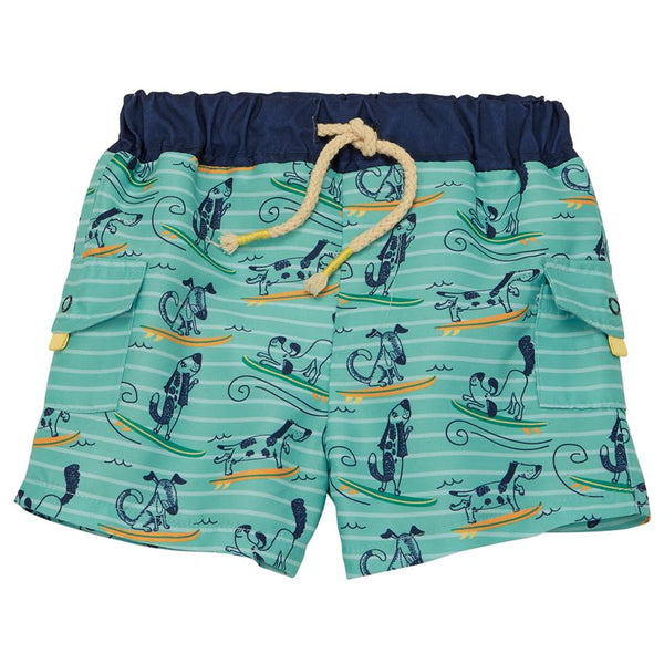 Mud Pie Dog Surfing Swim Trunks |PREORDER|