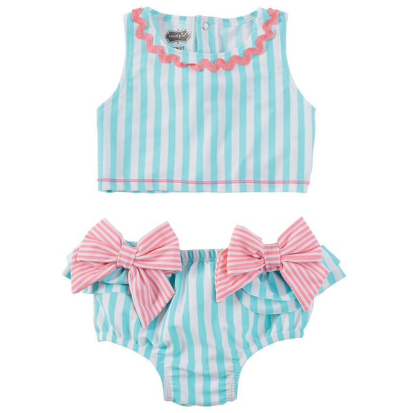 Mud Pie Aqua Bow 2-Piece Swimsuit |PREORDER|