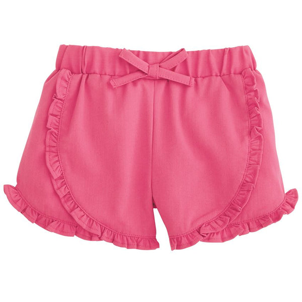 Mud Pie Girls Twill Ruffle Shorts - Pink