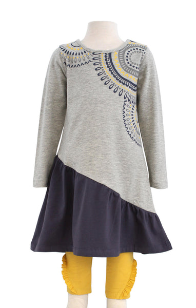 Bonnie Jean Medallion Tunic and Gold Leggings |PREORDER|