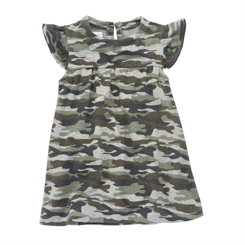 Mud Pie Short Sleeve Camo Dress |PREORDER|
