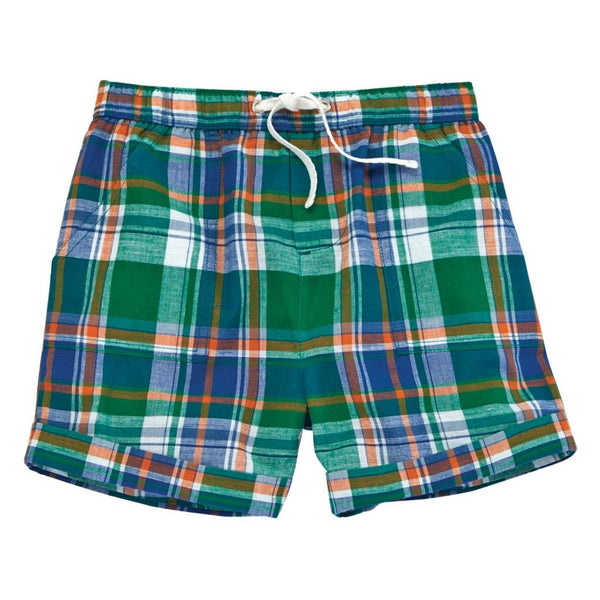Mud Pie Boys Plaid Shorts - Green |PREORDER|