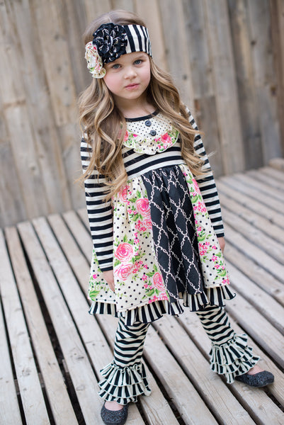 Serendipity Enchanted Dreams Bib Patchwork Dress & Legging Set (sz 6m-4T)
