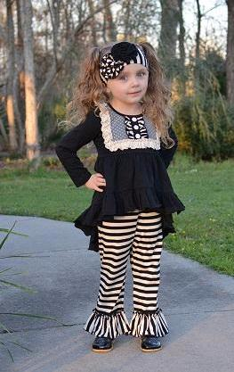 Serendipity Enchanted Dreams Hi-Low Bib Top & Bell Legging Set (sz 4-10)