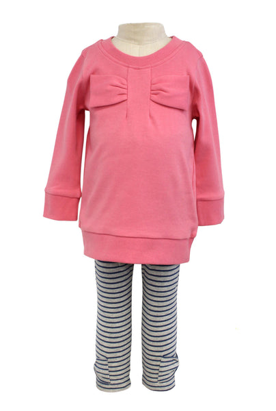 Bonnie Jean Emu Top with Striped Leggings |PREORDER|