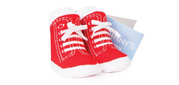Trumpette Red Johnny High Top Socks (1 pair) sz. 0-12m