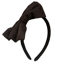 Ooh La La Couture Black Satin Bow Headband