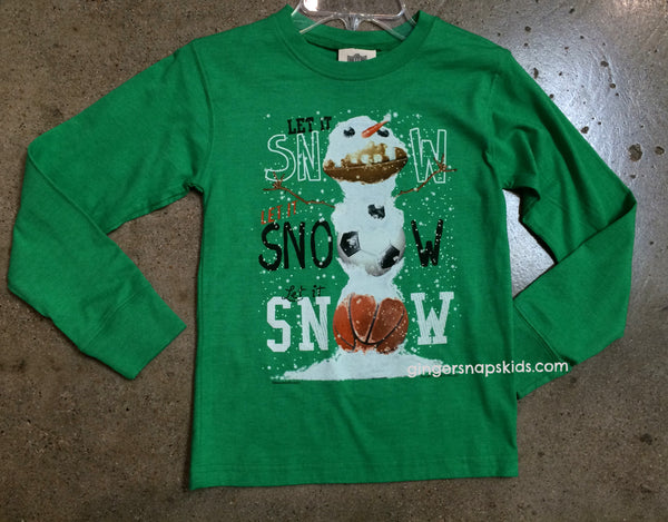 Wes and Willy Let it Snow L/S Tee (sz 12m, 18m last ones)