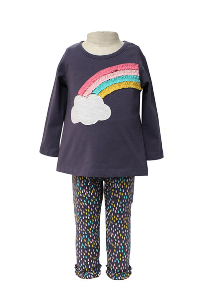 Bonnie Jean Rainbow Cloud Top with Leggings |PREORDER|