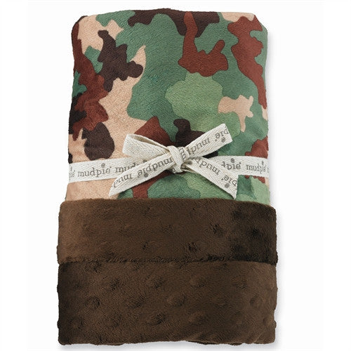 Mud Pie Camo Minky Blanket