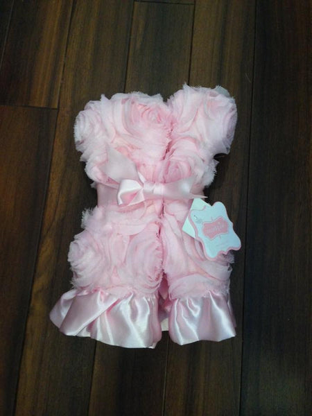 Mud Pie Pink Rosette Cuddler