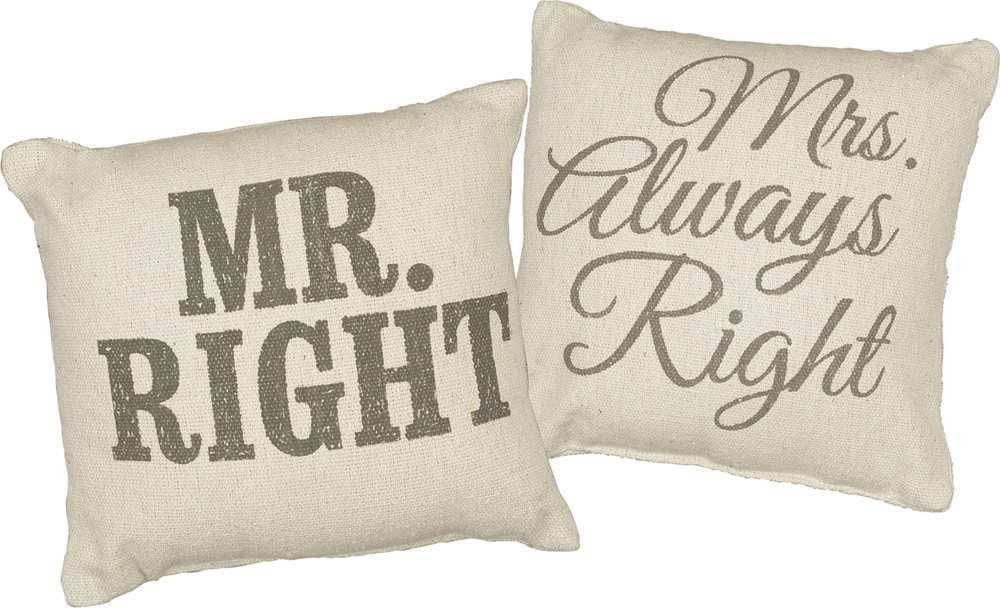 Pillow Set - Mr. & Mrs. Right | PREORDER